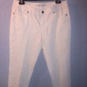 White Michael kors ankle length jeans